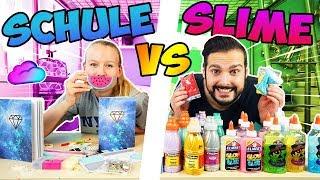 SLIME VS SCHULE MYSTERY BOX CHALLENGE Wählen Kathi & Kaan coole Schulsachen oder Schleimzutaten?