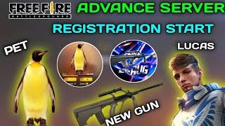 FREE FIRE NEW 2020 JULY MONTH ADVANCE SERVER REGISTRATION START | NEW PET, NEW GUN , NEW CHARACTER