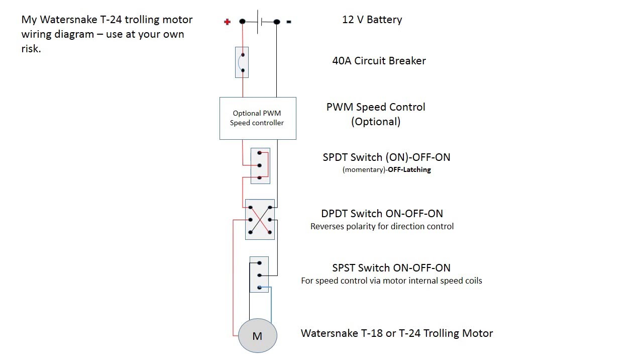 Watersnake Trolling Motor Wiring Diagram  YouTube