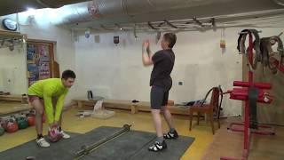 Гиревой спорт. Имитация упражнения Толочок. ОФП: после трен.