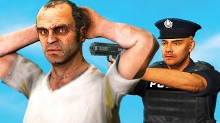 arresting trevor philips as a cop in gta 5 gta 5 funny moments
