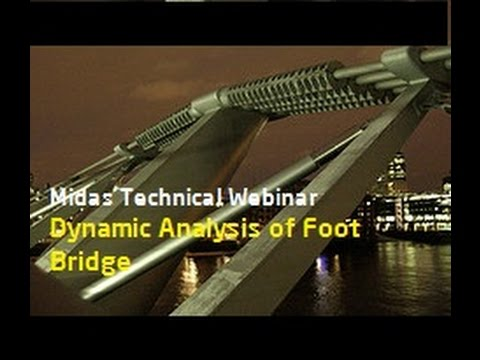 Dynamic Analysis of Footbridge to Eurocode