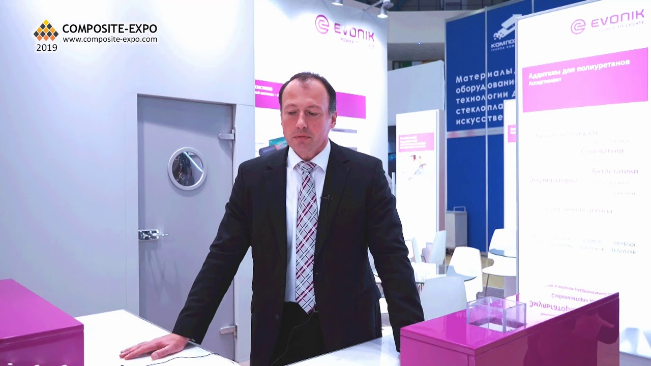 Arkadiy Maisels (Evonik / Germany) interview at the 12th Composite-Expo  2019 Exhibition