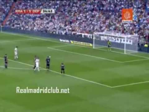 ريال مدريد 3 - 2 ديبورتيفو لاكريونا  في الموسم 2009/2010