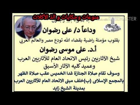 وداعا دكتور على رضوان عالم المصريات والاثار المصرى