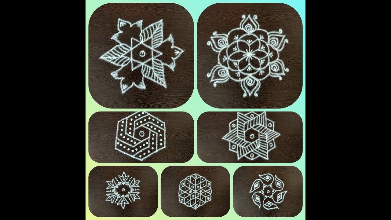 7 X 4 Dots Rangoli Designs Easy Simple 7 ப ள ள