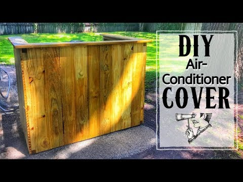 How to Make a Privacy Fence for Your Air Conditioner | One Day Build | Woodworking
