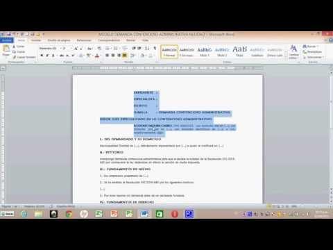 TUTORIAL CÓMO HACER UNA CONTESTACION DE LA DEMANDAиз YouTube · Длительность: 8 мин59 с