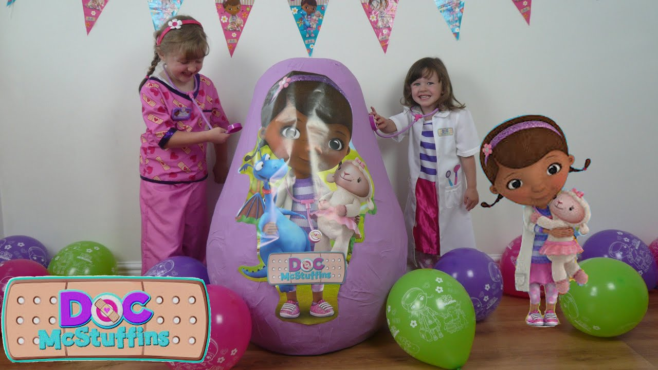Disney Doc Mcstuffins Videos Super Giant Surprise Egg The Worlds
