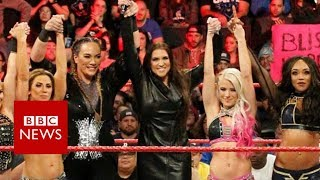 Bringing female equality to the WWE's ring - BBC News