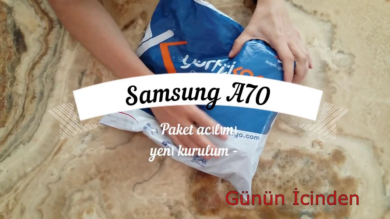 YENİ! SAMSUNG GALAXY A70  ( TAM BİR OYUN CANAVARI !!! ) Kutu Açılımı Ve Cihaz Tanıtımı.