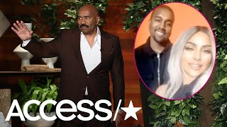 Steve Harvey Said Kanye West Nailed 'Family Feud' But His Wife Kim Didn't Do So Well! | Access