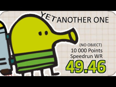 Doodle Jump 10 000 Points No Objects Speedrun (49.46)
