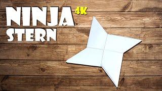 ⭐️ Ninja Stern aus Papier basteln - how to make a Paper ninja star origami DIY craft [4K]