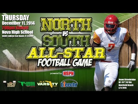 HIGH SCHOOL FOOTBALL - 2014 BCAA NORTH VS SOUTH ALL STAR GAME - HIGH SCHOOL FOOTBALL