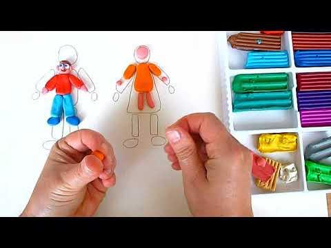 1 клас. Мистецтво. Ліпимо фігуру хлопчика та дівчинки