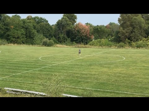 How To Layout Line And Paint Soccer Field In One Hour. Lining, Marking A Futbol Field.