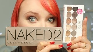 Urban Decay Naked 2 kontra MUA Undress Me Too