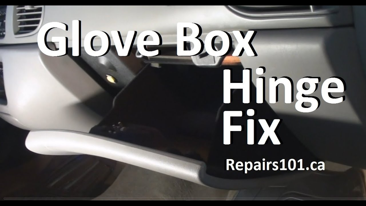 glove box hinge fix