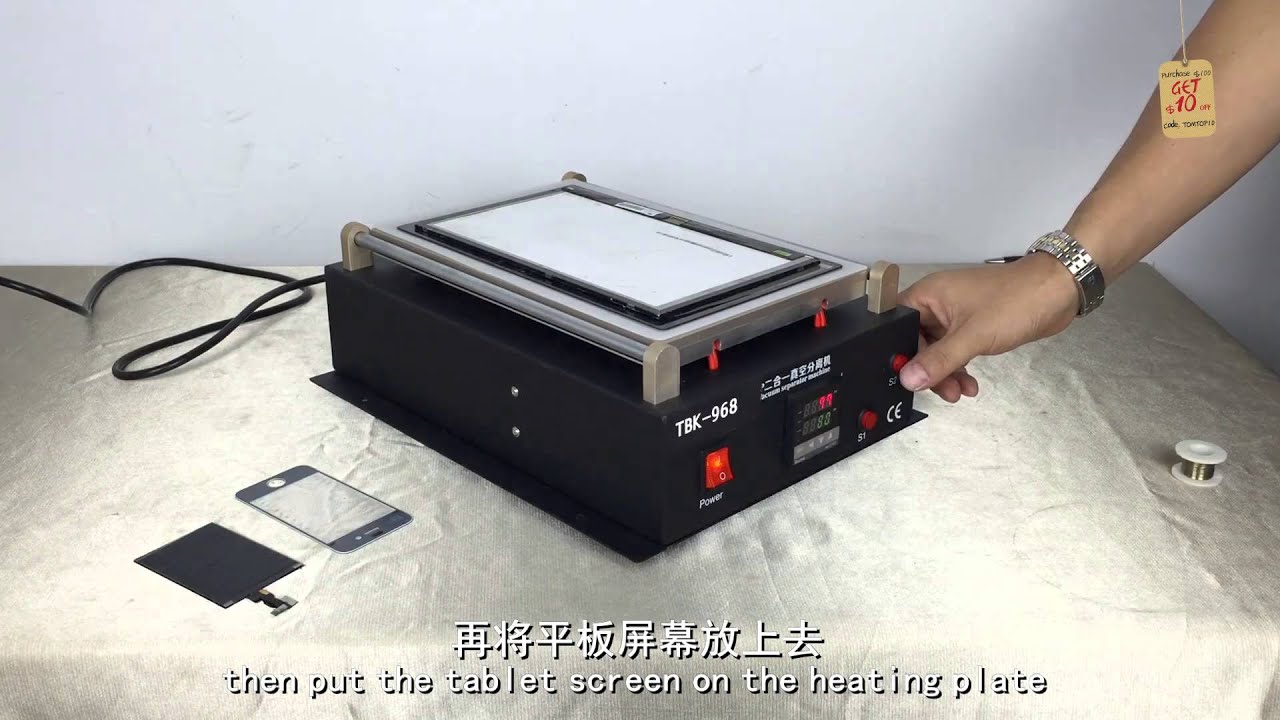 Heating  IPAD Mobile Phone  LCD Touch Screen Separator Machine Hot Plate Removal