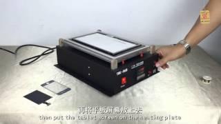 2 в 1 Ручний сепаратор сенсорний РК-екран вбудований вакуумний насос для мобільного телефону, планшета