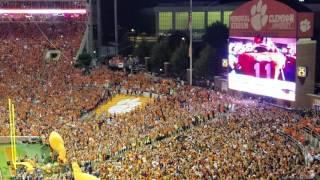 TigerNet.com - Clemson runs down the hill against Louisville
