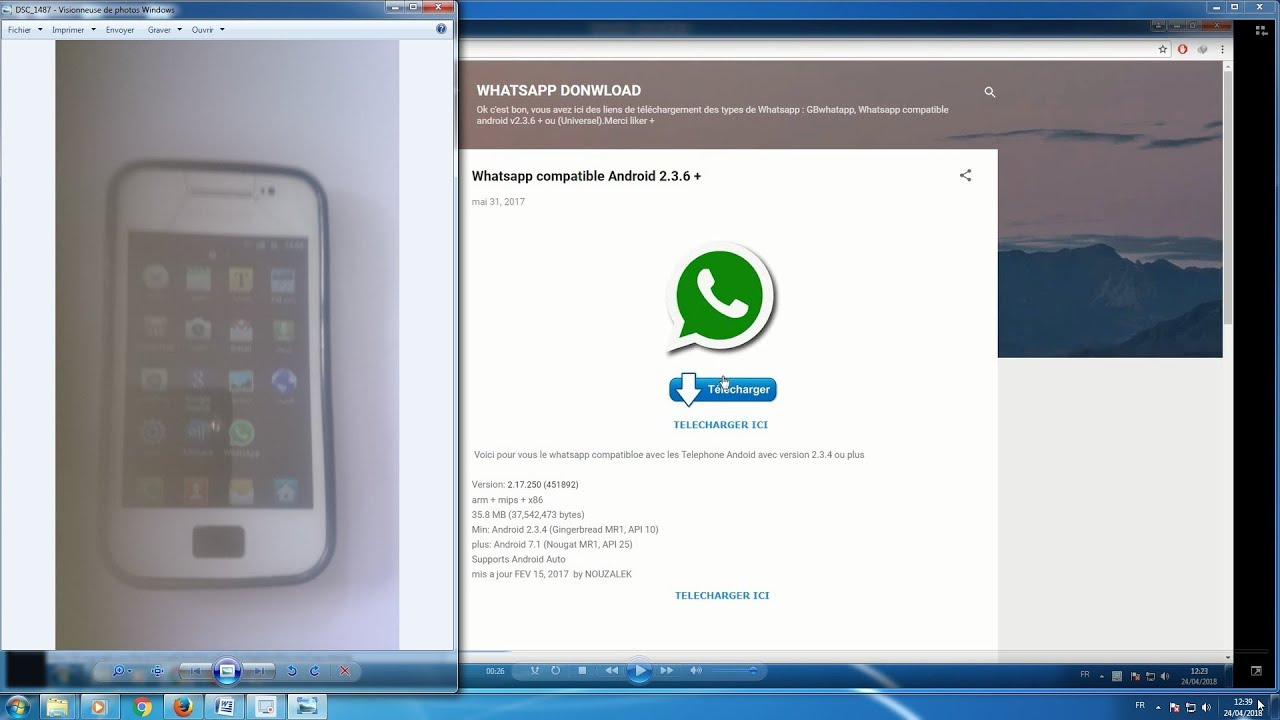 comment installer whatsapp apk samsung galaxy ace s5830i 2018 android 2 3 6  +