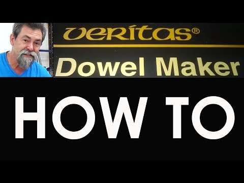 how precisely to place on Veritas dowel maker dave stanton workbench woodworkIng