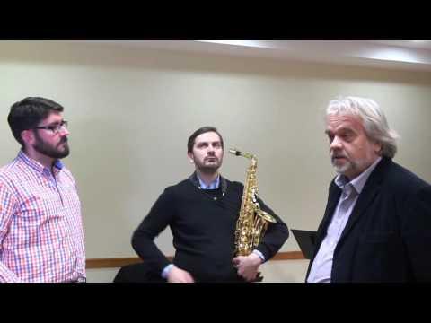 Curso de saxofón impartido en el CONSMUPA por Pawel Gusnar en el marco de los convenios ERASMUS
