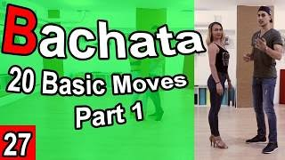 20 Bachata Basic Moves Part 1 - Marius&Elena Bachata Tutorial #27