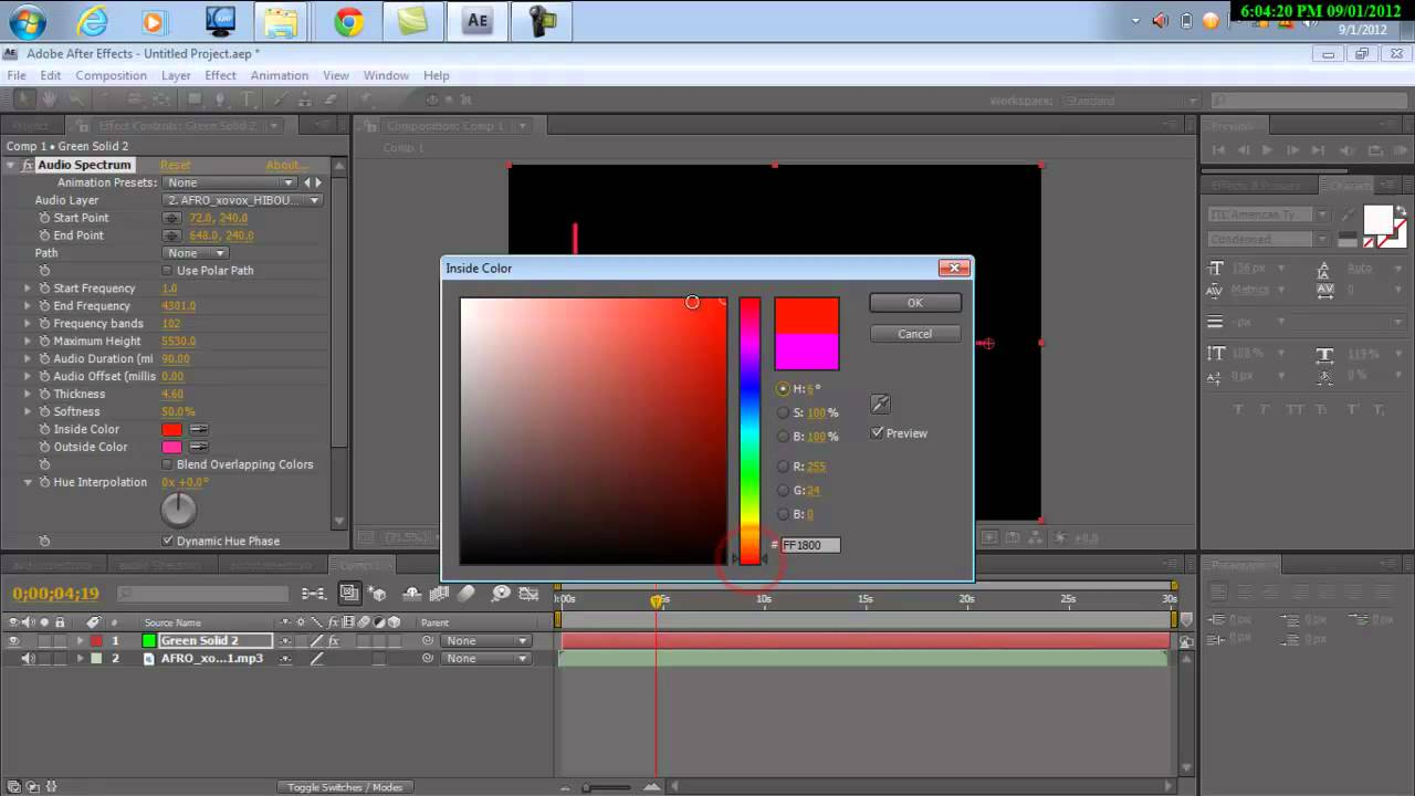 how to make a audio spectrum in adobe after effects CS4 For ...