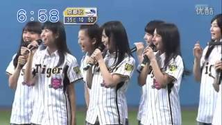 NMB48のさやかこと山本彩の始球式です。 懐かしいですね.