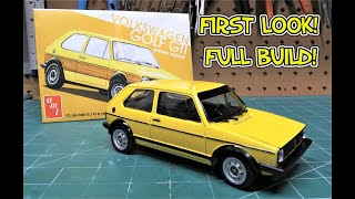 FIRST LOOK! 1978 Volkswagen VW Golf GTI Power Rabbit 1/25 Scale Model Kit Build Review AMT1213  AMT