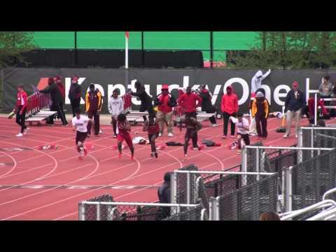 Louisville 21 Apr 2013 - 100m (M) Heat 1 - Lenny Lyles/Clark Wood Invite