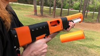 NERF MOD: FINALLY A REAL NERF SHOTGUN (Shell Tube + Ejection)