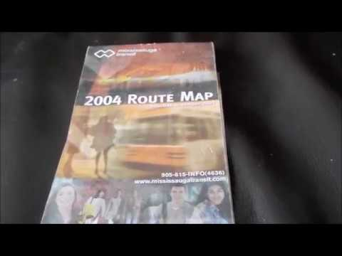 Old Mississauga Public Transit Map From 2004 MiWay
