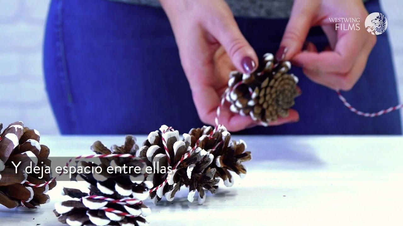 Decoraci n navide a con pi as naturales c mo hacer - Decoracion navidena con pinas ...