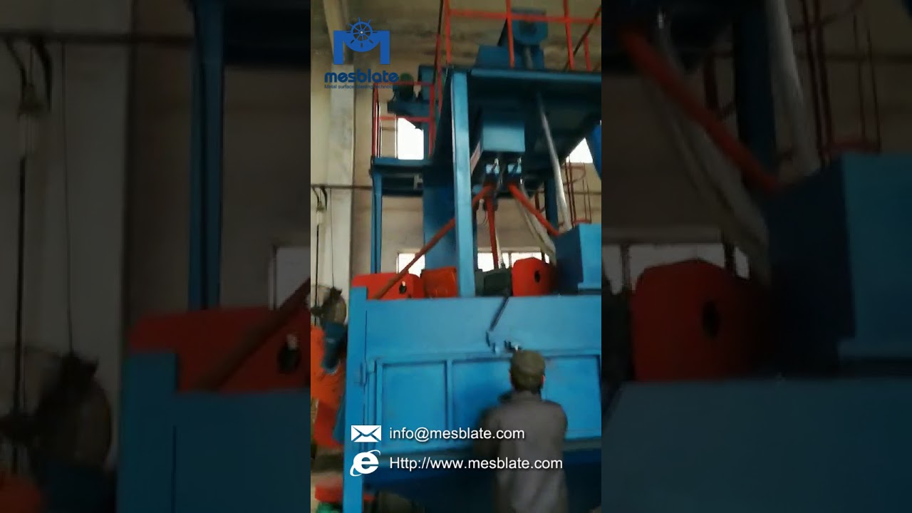 Rotary Table Shot Blasting Machine Video 1