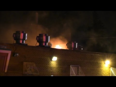 Oak Lawn,IL Fire Live Power Lines Down High Winds/Roof Fire Grassano