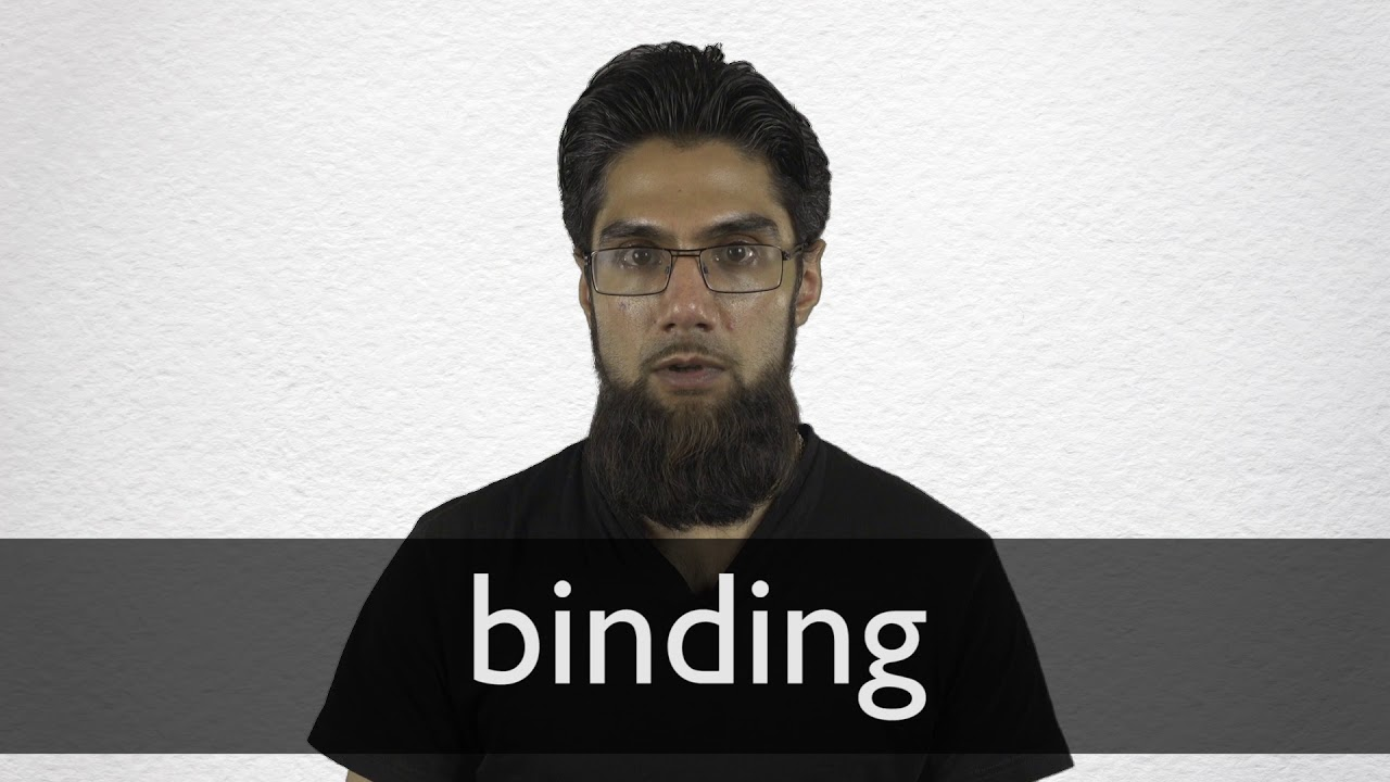 Binding definition and meaning | Collins English Dictionary