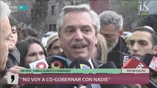 Alberto Fernández se distancia de Macri: