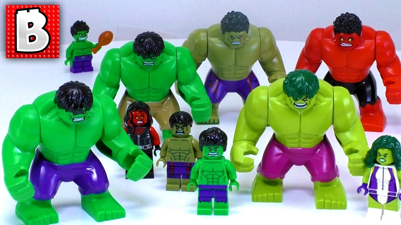 every lego hulk minfigure ever made collection review youtube. Black Bedroom Furniture Sets. Home Design Ideas