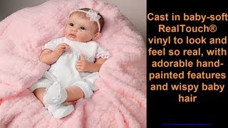 So Truly Real Olivia's Gentle Touch Lifelike Baby Girl Doll By Linda Murray by Ashton Drake A Reborn