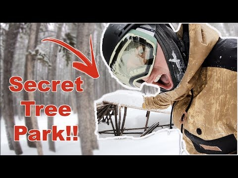 Snowboarding Breckenridge's Secret Wood Terrain Park!! - (Season 3, Day 86)