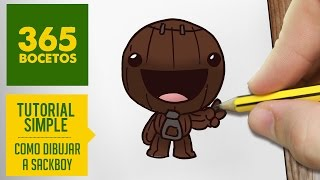 COMO DIBUJAR A SACKBOY KAWAII PASO A PASO - Dibujos kawaii faciles - How to draw Sackboy