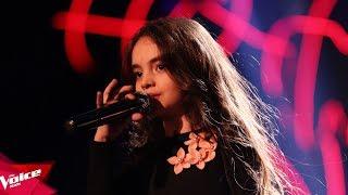 Video Sajana - Send my love | The Blind Auditions | The Voice Kids Albania 2018 download MP3, 3GP, MP4, WEBM, AVI, FLV Juni 2018