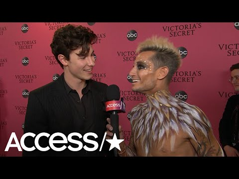 Shawn Mendes Jokes With Frankie Grande About Ducking Angels' Wings During VS Fashion Show Performanc