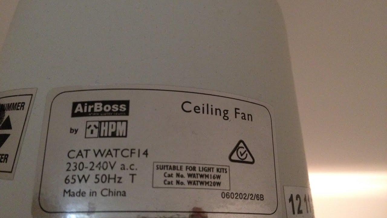 Airboss ceiling fan by hpm model catwatcf14 youtube airboss ceiling fan by hpm model catwatcf14 aloadofball Gallery