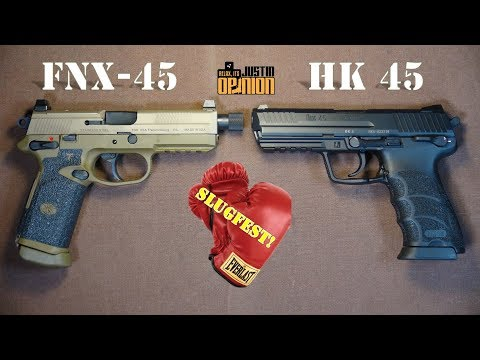 Slugfest! FNX-45 vs HK 45