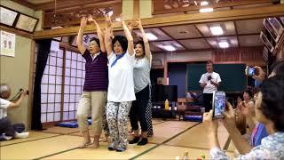7月22日に志和岐の定住促進センターで大仏連さんの指導を受けて阿波踊り...